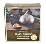 Мыло антивозрастное с черным чесноком DEOPROCE Soap black garlic reaging 100г: фото