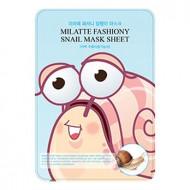 Маска для лица тканевая улиточная MILATTE FASHIONY SNAIL MASK SHEET 21гр: фото