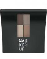 Палетка матовых теней MAKE UP FACTORY Mat Eye Colors т.070 коричн/св.коричн/св.беж/серый беж, 4.8 гр: фото