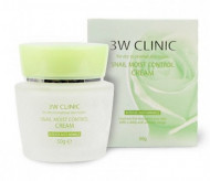 Восстанавливающий крем для лица с улиточным муцином 3W CLINIC Snail Moist Control Cream: фото