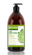 Гель для душа МЯТА и ЛАЙМ EVAS NATURIA PURE BODY WASH Wild Mint & Lime 750 мл: фото